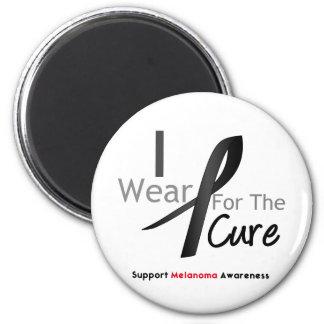 Melanoma I Wear Black For The Cure Fridge Magnets