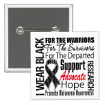 Melanoma I Wear Black Ribbon TRIBUTE Pins