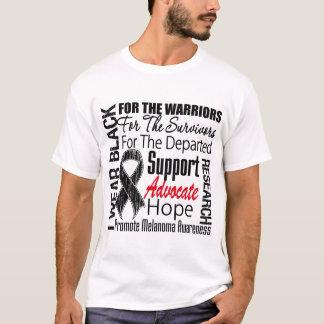 Melanoma I Wear Black Ribbon TRIBUTE T-Shirt