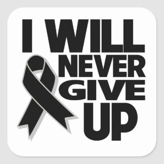 Melanoma I Will Never Give Up Stickers
