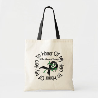 Melanoma In Honor Of My Hero Who Fought Bravely Budget Tote Bag