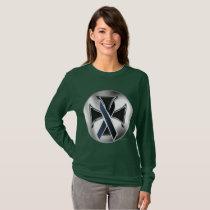 Melanoma Iron Cross Ladies Long Sleeve Shirt