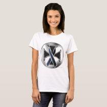 Melanoma Iron Cross Ladies T-Shirt