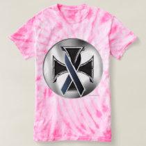 Melanoma Iron Cross Ladies Tie-Dye T-Shirt