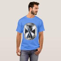 Melanoma Iron Cross Men's Dark T-Shirt
