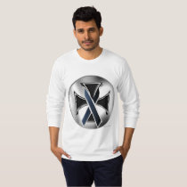 Melanoma Iron Cross Men's Long Sleeve Shirt