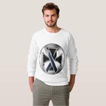 Melanoma Iron Cross Men's Raglan Sweatshirt