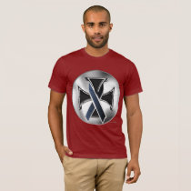 Melanoma Iron Cross Men's T-Shirt