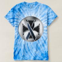 Melanoma Iron Cross Men's Tie-Dye T-Shirt