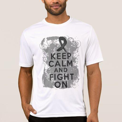 Melanoma Keep Calm and Fight On Shirts