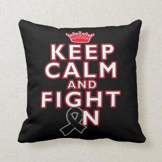 Melanoma Keep Calm Fight On Pillows