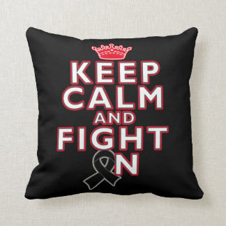 Melanoma Keep Calm Fight On Pillow