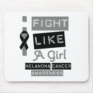 Melanoma Label Logo I Fight Like A Girl Mouse Pad