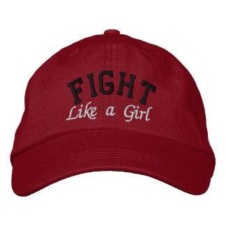 Melanoma - lucha como un chica gorras bordadas