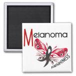 Melanoma/MARIPOSA 3,1 del cáncer de piel Imán Cuadrado