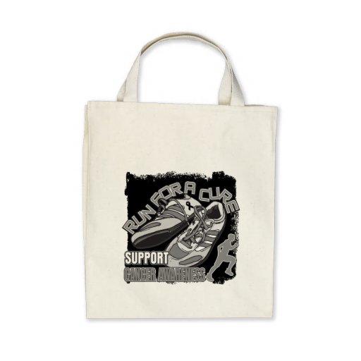 Melanoma - Men Run For A Cure Canvas Bag