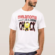 Melanoma Messed With The Wrong Chick T-Shirt