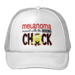 Melanoma Messed With The Wrong Chick Trucker Hat