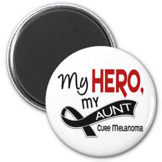 Melanoma MY HERO MY AUNT 42 2 Inch Round Magnet