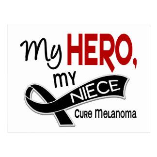 Melanoma MY HERO MY NIECE 42 Postcard