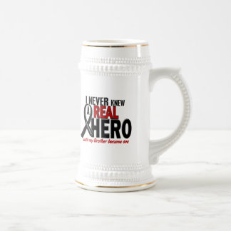 Melanoma NEVER KNEW A HERO 2 Brother Beer Stein