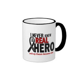 Melanoma NEVER KNEW A HERO 2 Cousin Ringer Mug