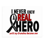 Melanoma NEVER KNEW A HERO 2 Grandma Postcards