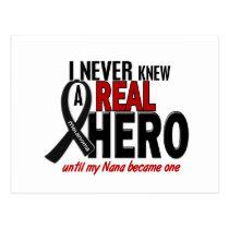 Melanoma NEVER KNEW A HERO 2 Nana Postcard