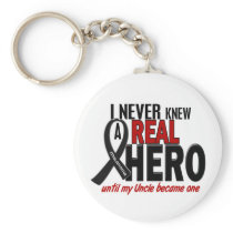 Melanoma NEVER KNEW A HERO 2 Uncle Keychain