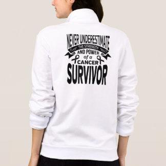 Melanoma  Never Underestimate Strength Printed Jacket