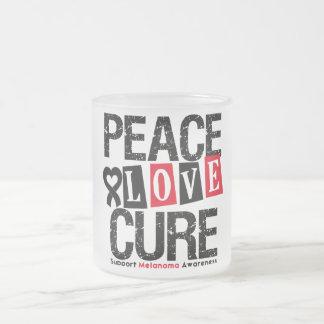 Melanoma Peace Love Cure Coffee Mug