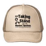 Melanoma que toma un tributo del soporte gorras de camionero