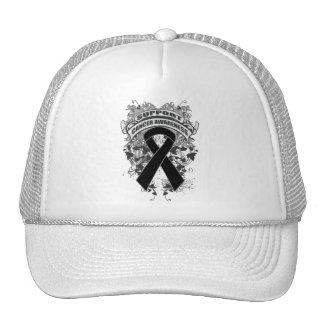 Melanoma - refresque el lema de la conciencia de l gorros
