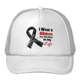 Melanoma Ribbon Hero in My Life Trucker Hat