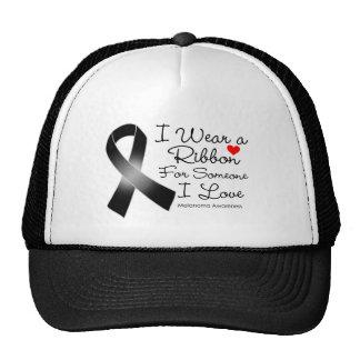 Melanoma Ribbon Someone I Love Trucker Hat