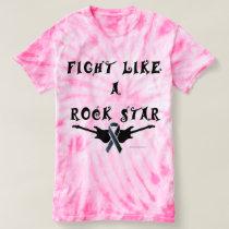 Melanoma Rock Star Ladies Tie-Dye T-Shirt