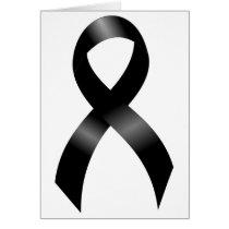 Melanoma | Skin Cancer - Black Ribbon Card