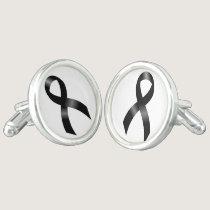 Melanoma | Skin Cancer | Black Ribbon Cufflinks