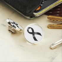 Melanoma | Skin Cancer - Black Ribbon Lapel Pin