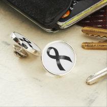 Melanoma | Skin Cancer - Black Ribbon Lapel Pin