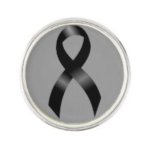 Melanoma | Skin Cancer - Black Ribbon Pin