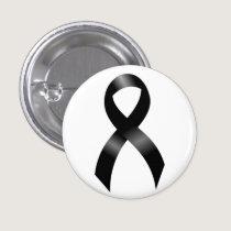 Melanoma | Skin Cancer - Black Ribbon Pinback Button