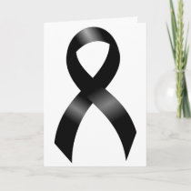 Melanoma | Skin Cancer - Black Ribbon Thank You Card