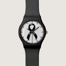 Melanoma | Skin Cancer - Black Ribbon Wristwatch