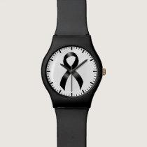 Melanoma | Skin Cancer - Black Ribbon Wristwatches
