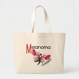 Melanoma / Skin Cancer BUTTERFLY 3.1 Jumbo Tote Bag