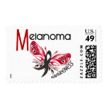 Melanoma / Skin Cancer BUTTERFLY 3.1 Stamps