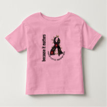 Melanoma Skin Cancer Flower Ribbon 3 Toddler T-shirt