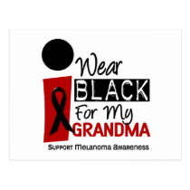 MELANOMA SKIN CANCER I Wear Black For My Grandma 9 Postcard