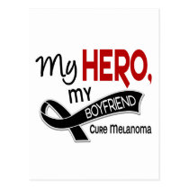 Melanoma Skin Cancer MY HERO MY BOYFRIEND 42 Postcard